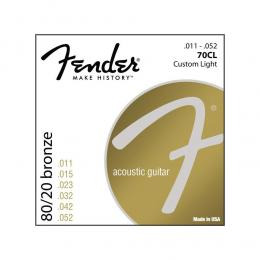 Fender 70CL 80/20 Bronze Custom Light - Cuerdas guitarra acústica