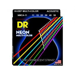 DR Strings MCA-11 Multi-Color - Juego de cuerdas guitarra acústica