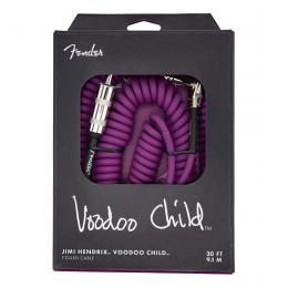 Fender Jimi Hendrix Voodoo Child Cable Purple 30ft - Cable rizado