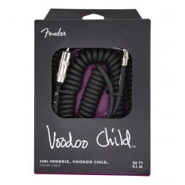 Fender Jimi Hendrix Voodoo Child Cable Black 30ft - Cable rizado