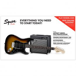 Squier Affinity Series Stratocaster HSS Pack IL BSB - Pack iniciación