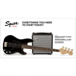 Squier Affinity Series Precision Bass PJ Pack IL BLK - Pack iniciación bajo