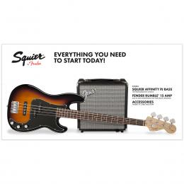 Squier Affinity Series Precision Bass PJ Pack IL BSB - Pack iniciación bajo
