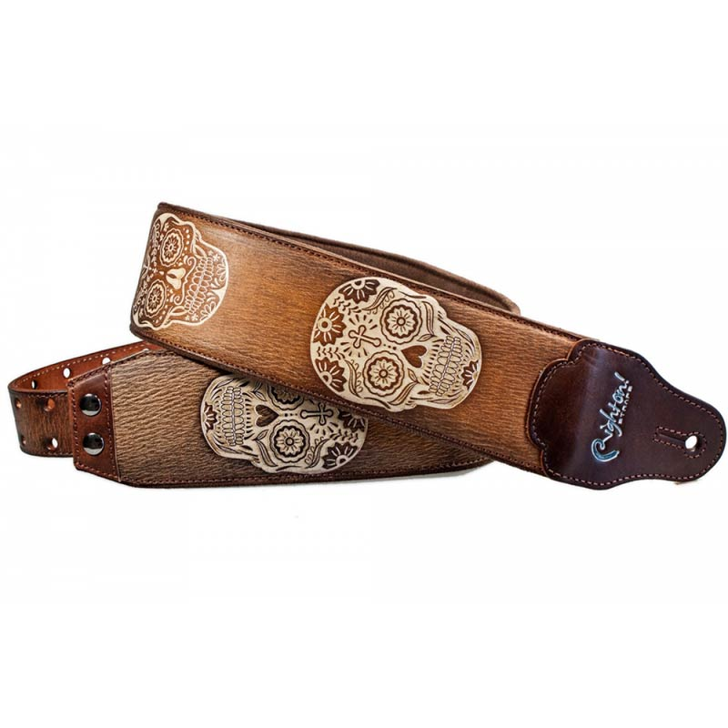 Righton Straps Leathercraft Sugar Woody - Correa artesana guitarra
