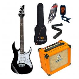 Pro Pack Ibanez GRG140-BKN + Orange Crush 12 - Iniciación guitarra
