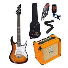Pro Pack Ibanez GRG140-SB + Orange Crush 12 - Iniciación guitarra