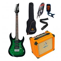 Pro Pack Ibanez GRX70QA-TEB + Orange Crush 12 - Iniciación guitarra