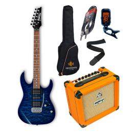 Pro Pack Ibanez GRX70QA-TBB + Orange Crush 12 - Iniciación guitarra