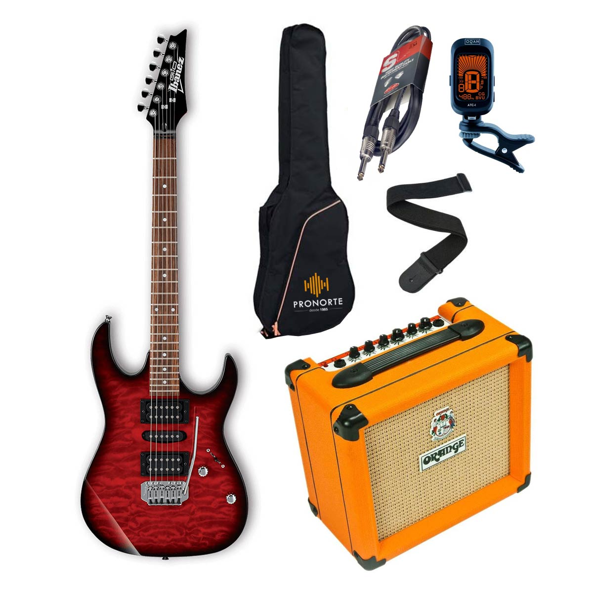 Pro Pack Ibanez GRX70QA-TRB + Orange Crush 12 - Iniciación guitarra