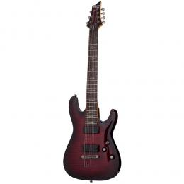 Schecter Demon-7 Crimson Red Burst CRB - Guitarra eléctrica