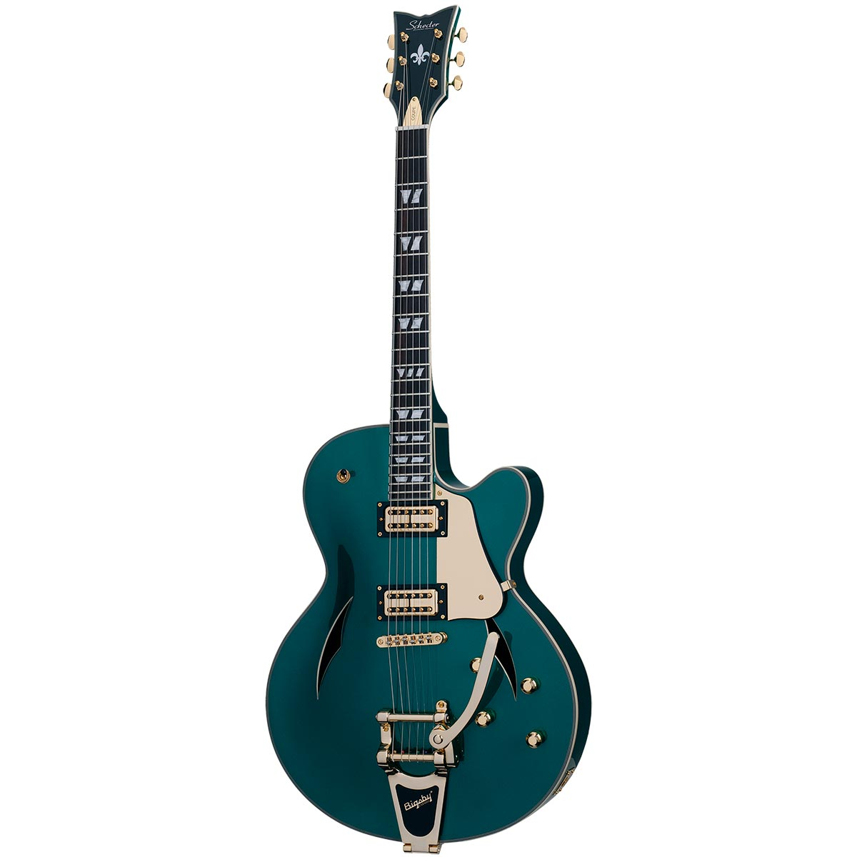 Schecter Coupe 2018 Dark Emerald Green DEG - Guitarra de jazz