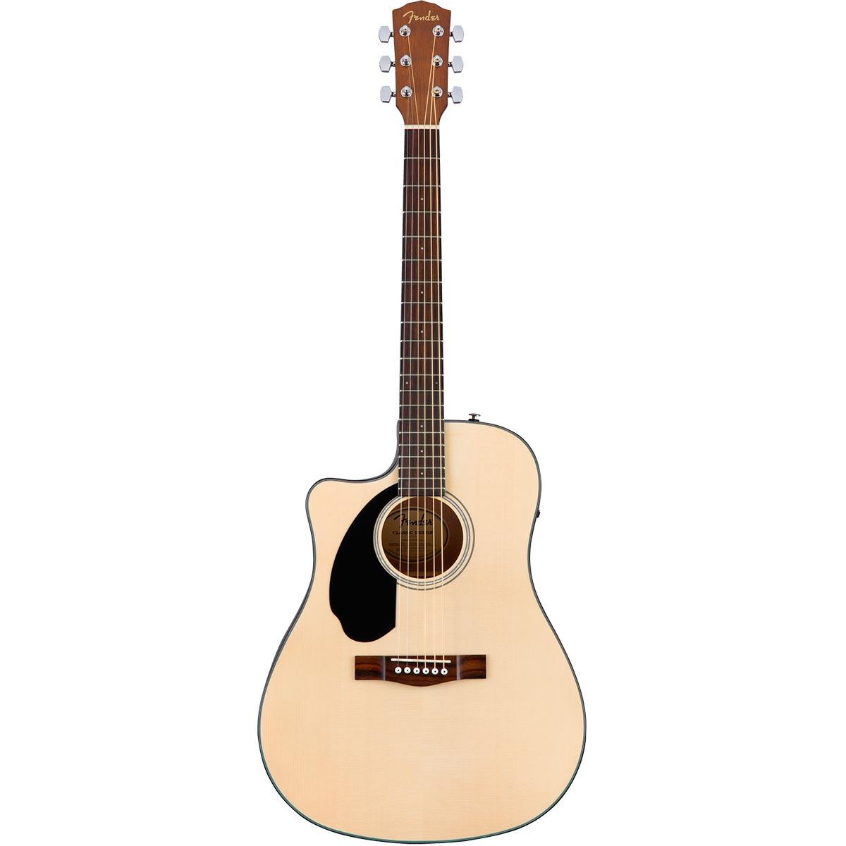 Fender CD-60SCE LH WN NAT - Guitarra acústica zurda