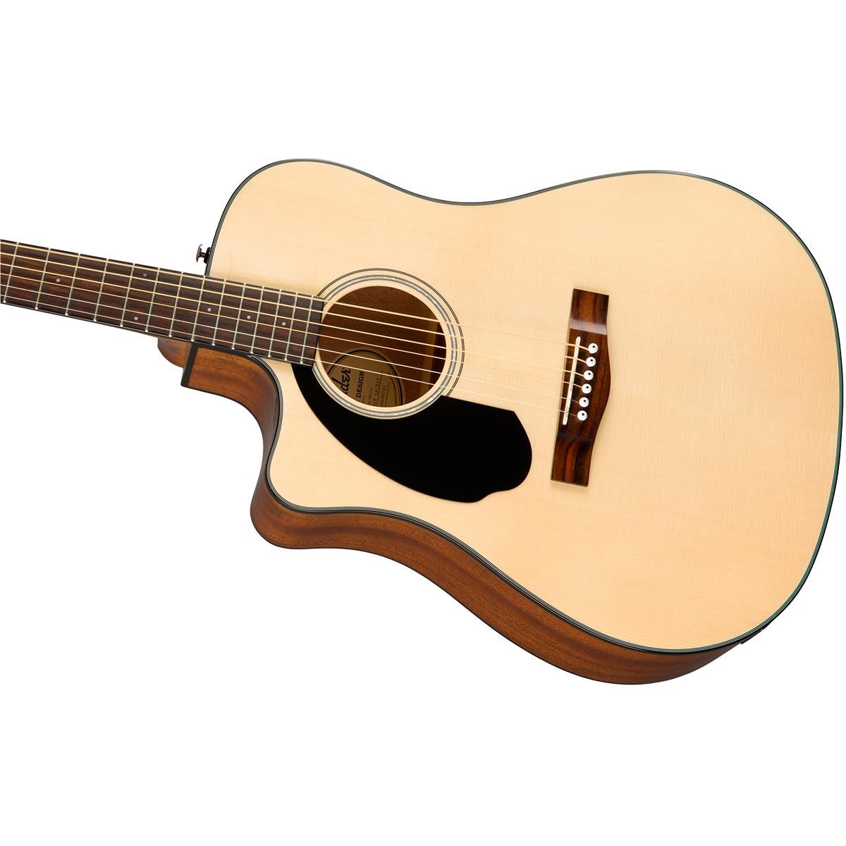 Fender CD-60SCE WN Natural LH Guitarra Occidental Zurda