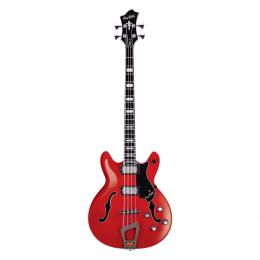 Hagstrom Viking Bass Wild Cherry Transparent - Bajo eléctrico semicaja