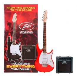 Pack iniciación de guitarra eléctrica Peavey Raptor Plus Stage Pack Red
