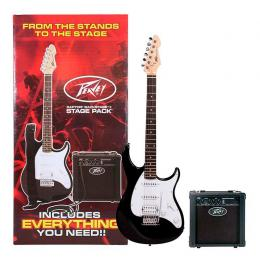 Pack iniciación de guitarra eléctrica Peavey Raptor Plus Stage Pack Black