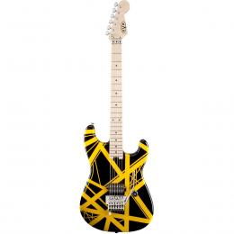 Guitarra eléctrica EVH Striped Series Black w/Yellow Stripes