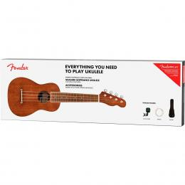 Ukelele Fender Seaside Soprano Ukulele Pack
