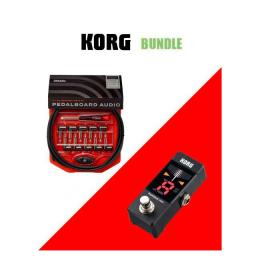 Pack para guitarristas Korg Bundle - Pitchblack Mini + Kit Cableado PW-GPKIT-10
