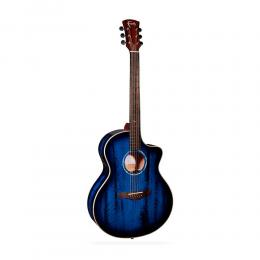 Guitarra acústica Faith FNCEBLM Neptune Blue Moon Burst
