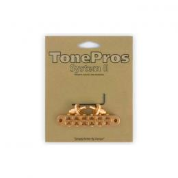 Puente Tuneomatic cromado TonePros T3BP Tuneomatic Gold