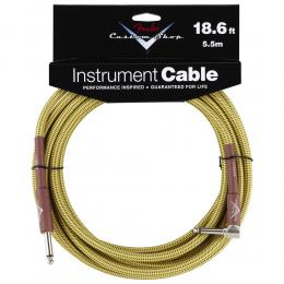 Fender Custom Shop Cable 5.5m 18Ft Angled Tweed - Cable jack