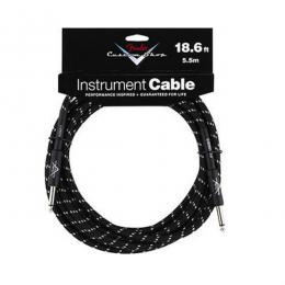 Fender Custom Shop Cable 5.5m 18Ft Black Tweed - Cable jack