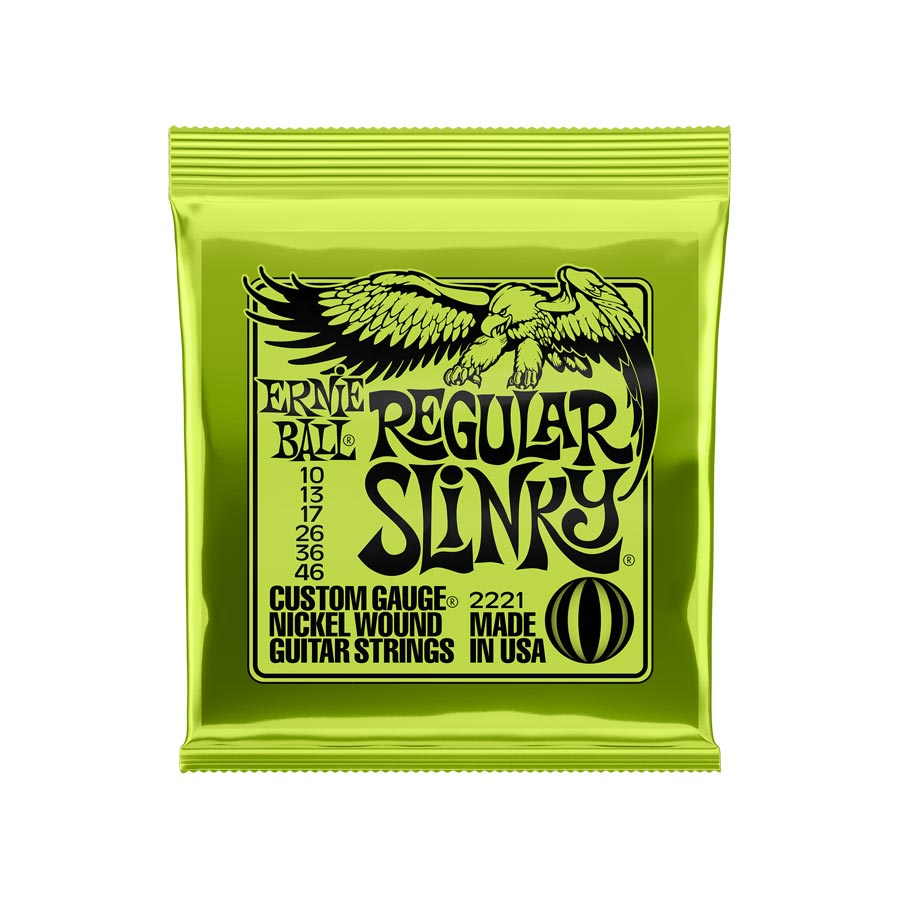 Cuerdas Ernie Ball 2221 Nickel Wound Regular Slinky (010-013-017-026-036-046).