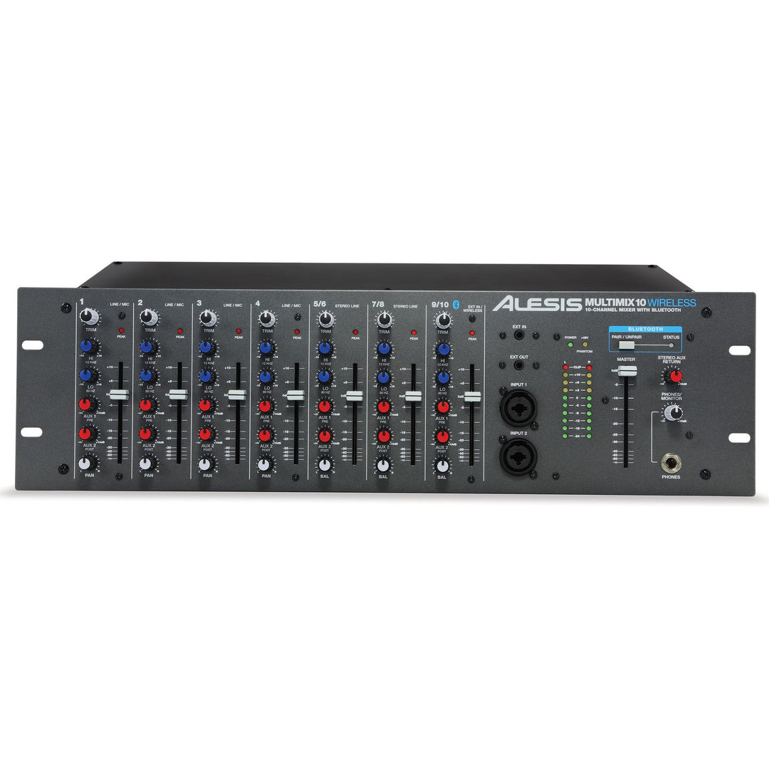 Alesis MultiMix 10 Wireless - Mezclador 10 canales rack Bluetooth