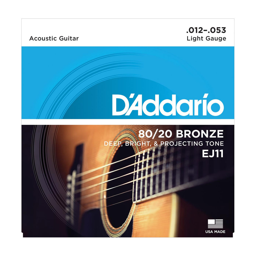 D'Addario EJ11 80/20 Bronze Light