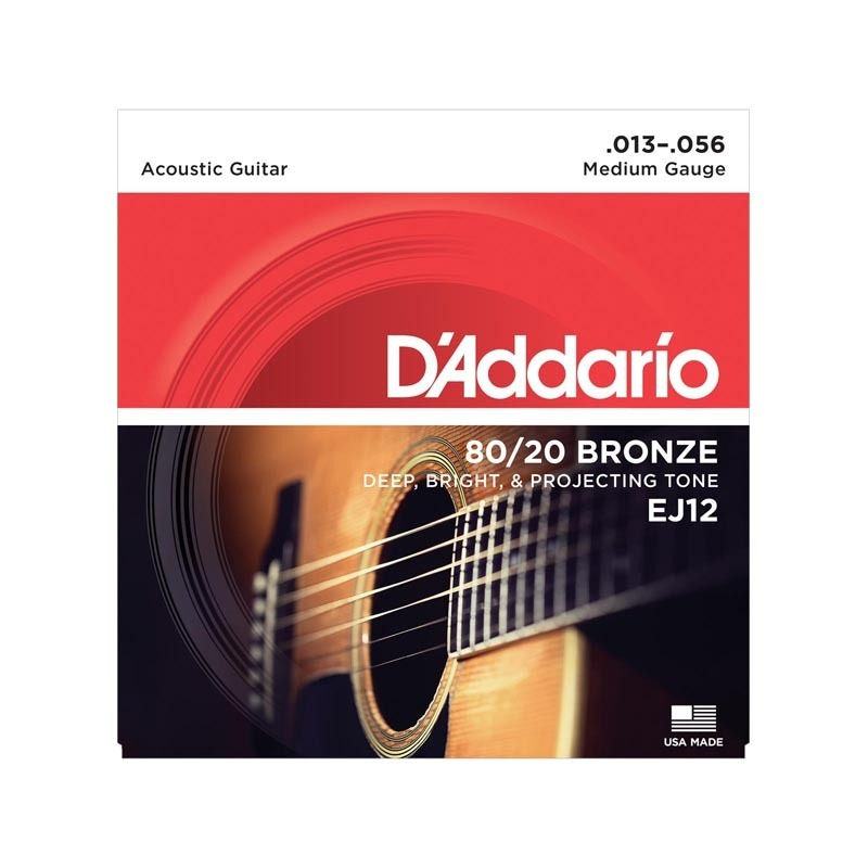 D'Addario EJ12 80/20 Bronze Medium