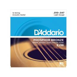 D'Addario EJ38 Phosphor Bronze Light 12 String