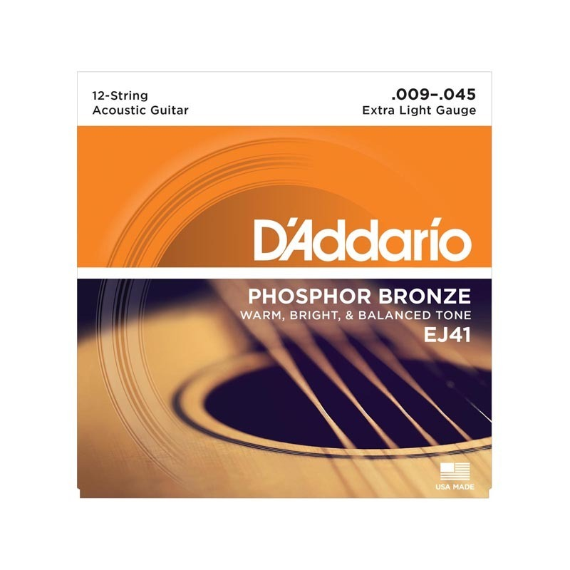 D'Addario EJ41 12-String Phosphor Bronze Extra Light