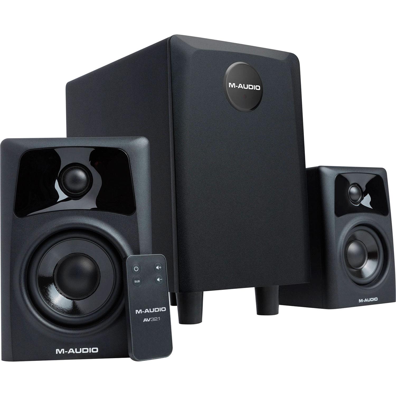 m audio av32 1 sistema de sonido 2 1 monitores subwoofer. Black Bedroom Furniture Sets. Home Design Ideas