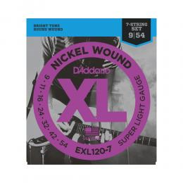 D'Addario EXL1207 - XL Super Light 7-String
