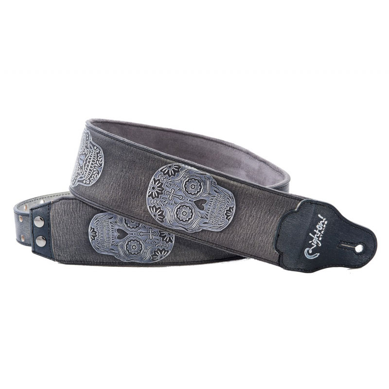 Righton Straps Leathercraft Sugar Black - Correa artesana guitarra
