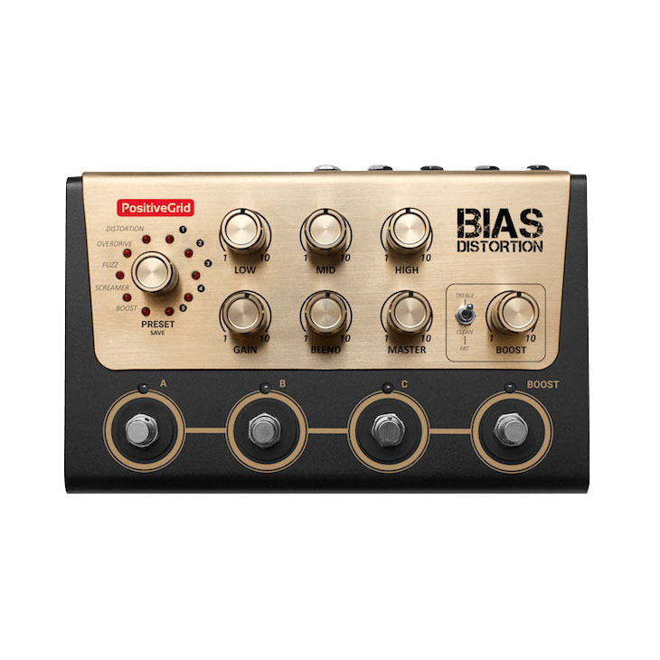 Positive Grid BIAS Distortion PRO - Pedal distorsión guitarra